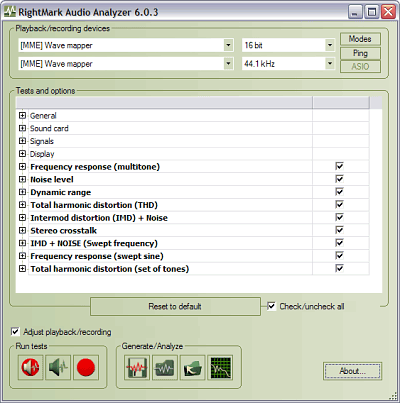 RightMark Audio Analyzer 6.2.5 full
